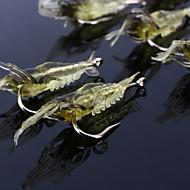 """10 個 ソフトベイト 釣りフック ルアー Jerkbaits エビ ソフトベイト イエロー クリア グラム/オンス,68 mm/2-1/8"""" 2-11/16"""" インチ,ソフトプラスチック シリコン海釣り フライフィッシング ベイトキャスティング スピニング ジギング"""