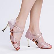 сатин женщин золотые каблуки алмазные танцевальная обувь сандалии (больше цветов)