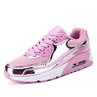 Feminino sneakers mola outono conforto pu outdoor casual sequin corar pink silver black running