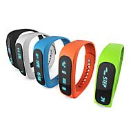 E02 sport Bluetooth karkötő intelligens karóra egészséges karszalag idő / Caller ID / riasztás / lépésszámláló alvás monitor iOS android