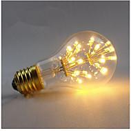 3W E27 Izzószálas LED lámpák A60(A19) 3 COB 300 lm Meleg fehér Állítható Dekoratív AC 220-240 V 1 db.
