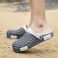 メンズ サンダル コンフォートシューズ 穴の靴 カップルの靴 PUレザー 春 カジュアル グレー パープル ブルー フラット