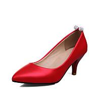 נשים-עקבים-דמוי עור-נעליים פורמלית--חתונה שמלה מסיבה וערב-עקב עבה עקב קצר