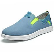 Men's Loafers & Slip-Ons Light Soles Canvas Spring Fall Casual Walking Light Soles Gore Flat Heel Gray Navy Blue Light Blue 2in-2 3/4in