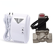 Standalone lpg naturgas lækage detektor alarm med dn20 elektromagnetisk magnetventil til gaslækage auto slukke for hjemme sikkerhed