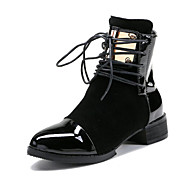 Women's Boots Spring Summer Fall Winter Club Shoes PU Suede Outdoor Office & Career Dress Low Heel Chunky Heel Sequin Split Joint Walking