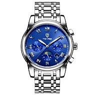 Tevise Heren Voor Stel Sporthorloge Skeleton horloge Modieus horloge mechanische horloges Automatisch opwindmechanismeKalender