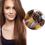 nagykereskedelmi perui nők Remy keratin köröm tip u tip emberi póthaj egyenes 1g / szál 100strands # 6