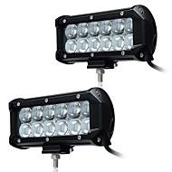 KAWELL 2Pcs 6.5 36W LED Work Light Bar Spot Beam 30 degree 4D Driving Light Waterproof 9-32V for Off-road Vehicle Pickup Car SUV Truck ATVs 4x4 4WD B