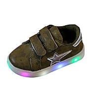 בנים נעלי אתלטיקה נוחות PU אביב סתיו נוחות עקב שטוח אפור ירוק צבא ורוד שטוח