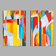 Ručně malované Lidé Horizontálně,Moderní Dva panely Plátno Hang-malované olejomalba For Home dekorace