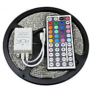 Z®ZDM Waterproof 5M 300X3528 SMD RGB LED Strip Light with 44Key Remote Controller (DC12V)