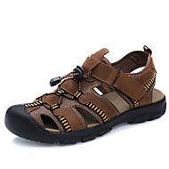 Herrer Sandaler Komfort Læder Forår Sommer Efterår Afslappet Formelt Badesko Komfort Mørkebrun 2,5-4,5 cm