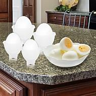 6 kusů DIY Mold Odpěňovačka For pro Egg Plast Nerez Vysoká kvalita Tvůrčí kuchyně Gadget
