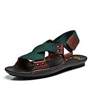 Masculino Sandálias Conforto Solados com Luzes Tecido de Poliamida Pele Primavera Verão Casual Conforto Solados com LuzesCadarço de