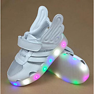 Girls' Sandals First Walkers PU Spring Fall Casual First Walkers Magic Tape Flat Heel Green Silver Flat