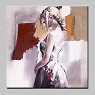 Handgeschilderde Mensen Abstract Modern/Hedendaags Eén paneel Canvas Hang-geschilderd olieverfschilderij For Huisdecoratie