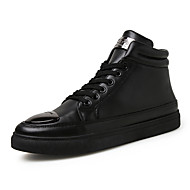 Men's Boots Spring Fall Winter Patent Leather Outdoor Casual Flat Heel Creepers Black Gold White