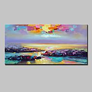 Maalattu Abstraktit maisemakuvat Horizontal,Moderni European Style 1 paneeli Kanvas Hang-Painted öljymaalaus For Kodinsisustus