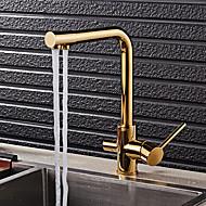 Art Deco / Retro Standardna lijevak Nadgradni umivaonikKeramičke ventilaTi-PVD , Kuhinja pipa