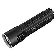 Nitecore® EC4 Lanternas LED LED 1000 Lumens 8.0 Modo Cree XM-L2 U2 18650.0 CR123ARegulável Prova-de-Água Recarregável Resistente ao Impacto Superfície