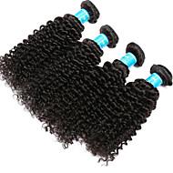 人間の髪編む ベトナミーズヘア Kinky Curly 12ヶ月 4個 ヘア織り