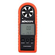 Kkmoon portátil mini profissional lcd anemómetro digital velocidade do vento velocidade do ar ferramenta de teste de temperatura do ar