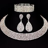 Seturi de bijuterii Ștras Design Basic DIY Clasic Aliaj Square Shape 1 Colier 1 Pereche de Cercei 1 Brățară PentruNuntă Petrecere Ocazie