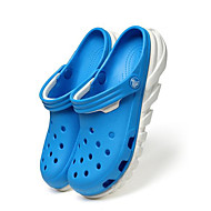 Homme Sandales trou Chaussures Confort Polyuréthane Printemps Décontracté Gris Bleu marine Bleu clair Plat