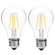 4W Izzószálas LED lámpák A60(A19) 4 COB 300 lm Meleg fehér Fehér V 2 db.
