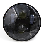 ブラックスパイダーパターン5.75 5-3 / 4は、ハーレーダビッドソンhのdのオートバイのヘッドライトプロジェクターのdrl電球を導いた