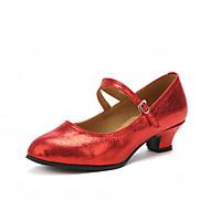 Személyre szabható Női Modern Magassarkúk Beltéri Személyre szabott sarok Arany Fekete Ezüst Piros 2,54 cm - 4,44 cm 5,08 cm - 6,98 cm