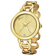 Women's Wrist watch Quartz 18K Gold Plated Band Eiffel Tower Bangle Gold