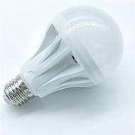 1pcs 7w e27 sensor de movimento lâmpada 500-600lm 30smd 2835 cool branco inteligente luz de som controle levou lâmpadas ac220-240v