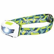 Lanternas de Cabeça LED 500 Lumens 4.0 Modo LED Baterias não incluídas Impermeável Leve Emergência Super Leve para Campismo / Escursão /