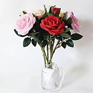 5 osainen 5 haara Silkki Ruusut Pöytäkukka Keinotekoinen Flowers