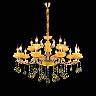 Lustres ,  Tradicional/Clássico Liga de Zinco Característica for Cristal Estilo Mini Metal Interior Corredor 15 lâmpadas
