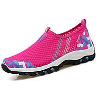 Damen Flache Schuhe Tüll Sommer Walking Kombination Flacher Absatz Fuchsia Hellgrau Blau+Rosa 5 - 7 cm