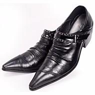 Homme Chaussures Vrai cuir Printemps Confort Oxfords Pour Décontracté Noir