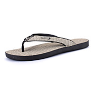 Men's Sandals Comfort PU Spring Fall Winter Casual Comfort Flat Heel Gray Light Brown Flat