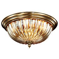 Full Copper Classic Crystal Ceiling Lamp LL