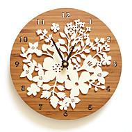 Moderno/Contemporâneo Casual Floral & Botanicals Relógio de parede,Redonda Inovador Interior Relógio