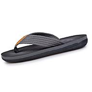 Herren Slippers & Flip-Flops PU Sommer Walking Kombination Flacher Absatz Grau Braun 5 - 7 cm