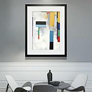 Abstraktní 3D umění v rámu Wall Art,Polystyren Materiál Černá Bez pasparty s rámem For Home dekorace rám Art