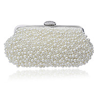 Women Bags All Seasons Polyester Evening Bag with for Event/Party Champagne White Beige