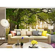 Bomen / Bladeren Art Deco 3D Print Behang voor thuis Hedendaags Behangen , Canvas Materiaal lijm nodig Muurschildering , Kamer