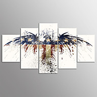 Kifeszített vászonnyomat Absztrakt,Öt elem Vászon Vízszintes Nyomtatás fali dekoráció For lakberendezési