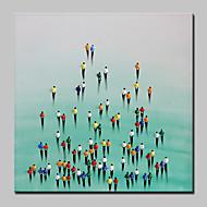 Kézzel festett Emberek Absztrakt Modern Egy elem Vászon Hang festett olajfestmény For lakberendezési