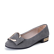 Women's Sandals Comfort Spring Summer PU Dress Low Heel Black Gray Almond 1in-1 3/4in