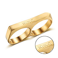 stainless steel wholesale in Europe and America Metrosexual titanium ring ring punk personality